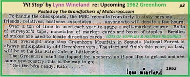 1962 Greenhorn a7 PIT STOP article by Lynn Wineland