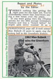 1962 Greenhorn b1 Max Bubeck,