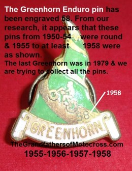 No pin but this shape used from 1955-1958 Greenhorn