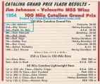 1954 a3 Catalina Results, won by Jimmy Johnson & Dick Dean 5th