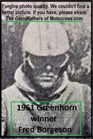 1961 Greenhorn 04 Winner Fred Borgeson lost only 11 points -