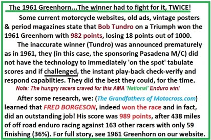 1961 Greenhorn 05 Fred Borgeson fights 2x for same Greenhorn win