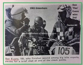 1961 Greenhorn 24b Don Evans #105 finished 2nd