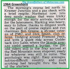1964 Greenhorn z51 Bob Greene, DIck Smith, Red. Mt...