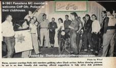 1964 Greenhorn z59 1951 PMC welcomes CHP Ofc. Pollard