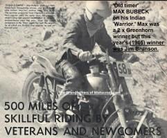 1965 a15 Greenhorn Max Bubeck on Indian Warrior