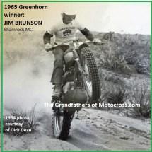 1965 a2 Greenhorn winner Jim Brunson Shamrock MC