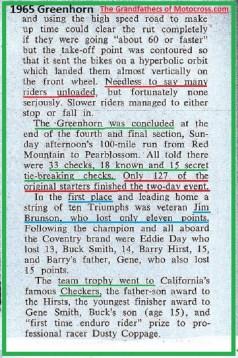 1965 b3 GH Brunson, Day, Smith, Hirst, Checkers MC, Coppage