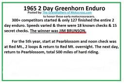 1965 b4 Greenhorn basic facts