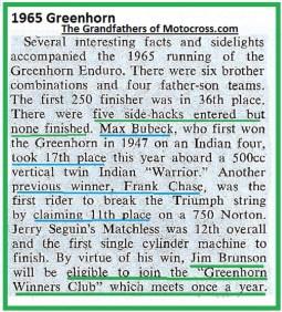 1965 b5 GH, Bubeck, F. Chase, Seguin, BRUNSON Winners Club