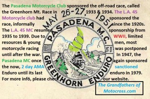1966 s8 Legacy of PMC sponsors Greenhorn motorcycle race 1947-1979 - Copy