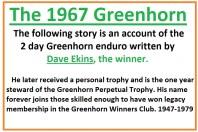 1967 C1 Greenhorn, intro story by Dave Ekins & GH winners club
