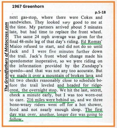 1967 C12 Greenhorn, Ed Romas, Zundapp, broken lave