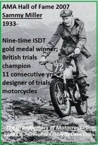 1967 C15 Greenhorn in story, Sammy Miller, British trials champion