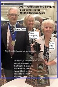 1967 C41 at 2017 TrailBlazers Dick Hammer Award to Dave Ekins & family present