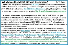 1967 s13 Which was the most difficult Greenhorn