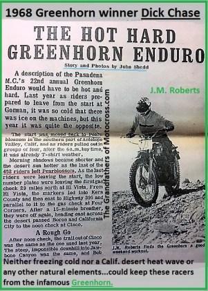 1968 a14 Start of Greenhorn 1968 story