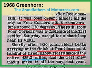 1968 a16 Greenhorn hot 110 degrees, 435.2 miles