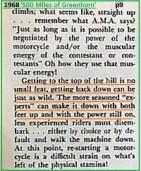 1968 b13 the AMA rules, hill climb