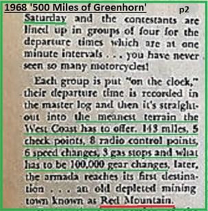 1968 b4 Greenhorn, meanest terrain