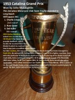 1969 Greenhorn M1b 1953 Catalina 2nd place team trophy, also in D. Dick bio Del Kuhn HD K model GOOD story