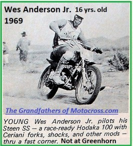 1969 Greenhorn M59 of Wes Anderson Jr. 16 yrs old but at other event