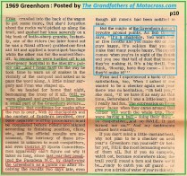 1969 Greenhorn b10 medics, 30 check points, District 37, Bob Greene