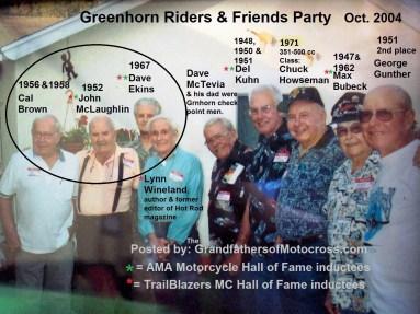 1969 s10 Greenhorn 2004 former winners, Cal Brown, John McLaughlin, Dave Ekins