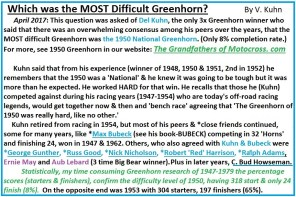 1969 s13 Which was the most difficult Greenhorn