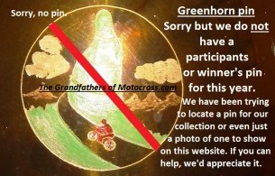 1974 a5 No Greenhorn partipants or finisher pin to show