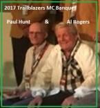 2017 a2 TrailBlazers Hall of Famers - PAUL HUNT & Al Rogers