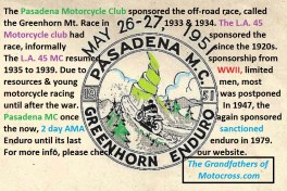 1970 Greenhorn a9 Legacy of PMC sponsors Greenhorn motorcycle race 1947-1979