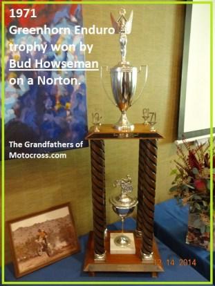 1971 Greenhorn a10 Bod Howseman Greenhorn winner trophy
