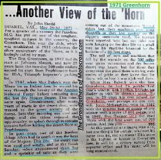 1971 Greenhorn a31 winners pt history, Bubeck, McLaughlin, Doc Trainor, Bob Steffan