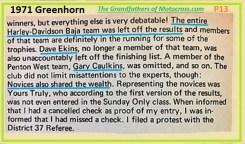 1971 Greenhorn b23 HD team, Dave Ekins, G. Caulkins