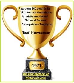 1971 Greenhorn b33b Sweepstakes winner Bud Howseman