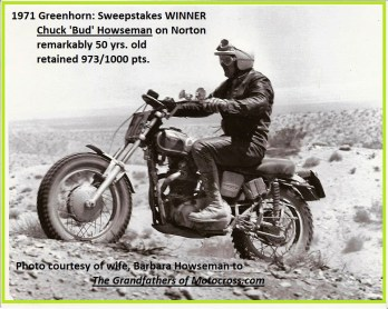1971 Greenhorn b34 winner Bud Howseman number 47B