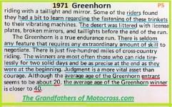 1971 Greenhorn b9 average age rider 20, winner 40