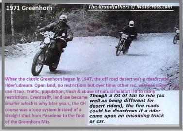 1971 Greenhorn d14 history of desert land use, traffic, fire roads