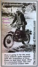 1971 Greenhorn d17a Dave Evans