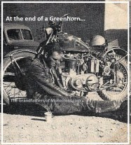 1971 Greenhorn f2 GREAT PHOTO of exhauster racer sitting on ground 1953