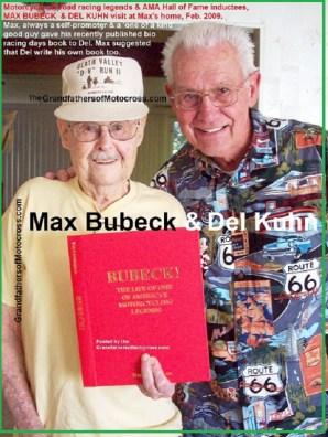 x11 2009 AMA Hall of Fame , Max Bubeck & Del Kuhn