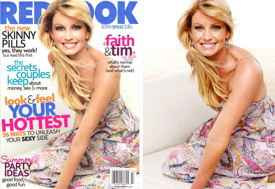 Faith Hill Redbook Cover July 2007 Photoshop