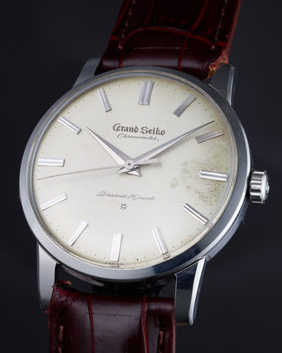Grand Seiko First Stainless Steel beauty shot