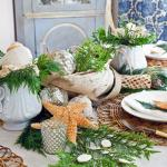 Nautical Christmas table setting