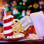 Santa gets cookie