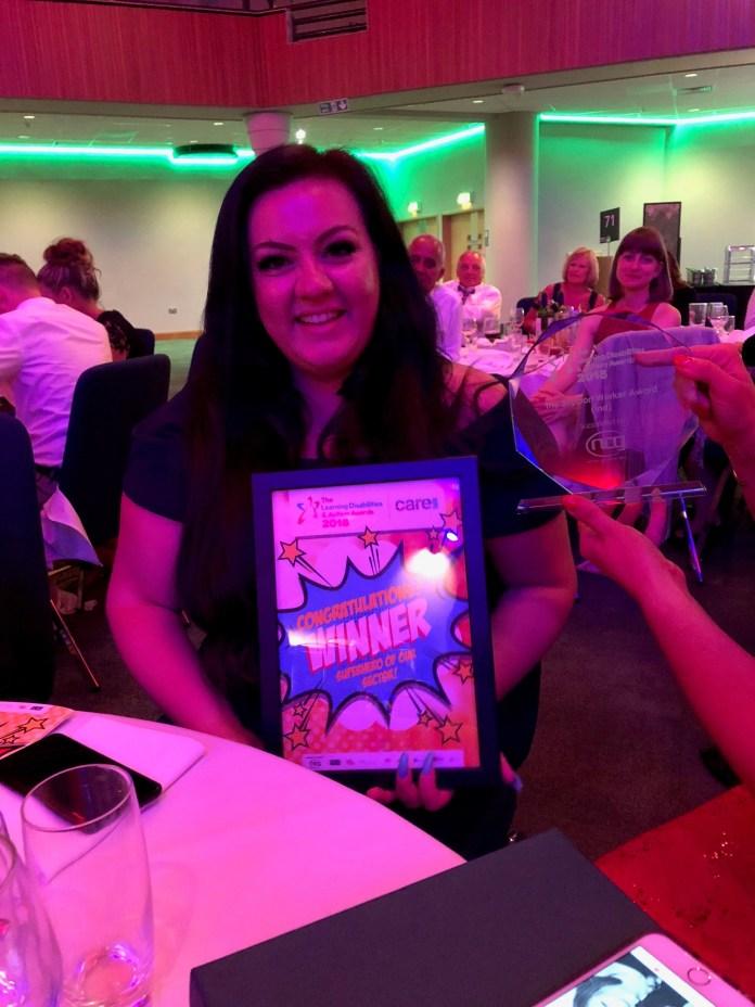 Beth with award
