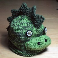 Knitted Dinosaur Hat