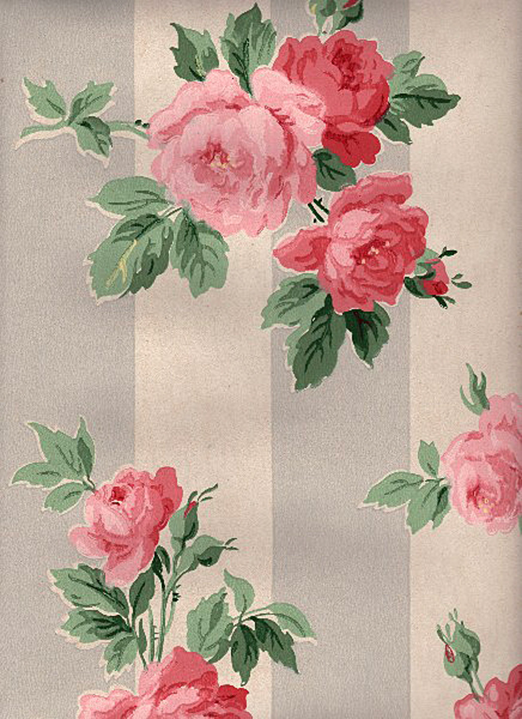 12 Vintage Wallpapers Cabbage Roses And More The Graphics Fairy