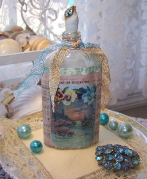 Brag Monday Beautiful Card Amp Altered Art Bottle The Graphics Fairy
